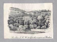 Baden-Baden - original Lithographie von Pecht um 1830 Selten!