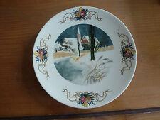 Assiette lentille décor hiver, Obernai de Sarreguemines