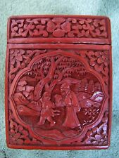 Antique Chinese Red Cinnabar Lacquer Box
