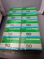 10 rolls Fujifilm Fujichrome  50 (RF135DX) 36 ex. slide film color 35mm