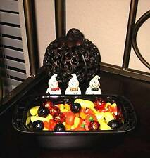 Longaberger Pottery Small Loaf Dish -  Set of (2)  - EBONY (BLACK) -  Halloween!