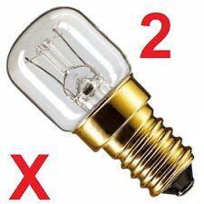 UNIVERSAL Twin Pack 15W REFRIGERATOR Appliance Light Bulb 240V SES E14 Lamp