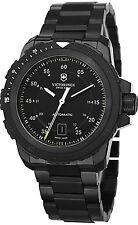 Swiss Army Alpnach Men's 44mm Automatic Black Steel Bracelet Date Watch 241684