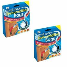 6 x SMALL SPACE DEHUMIDIFIER BAGS STOP DAMP MOULD MILDEW ABSORB MOISTURE
