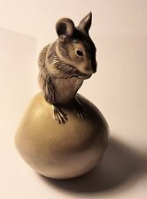 Vintage Poole Pottery Mouse on an Apple