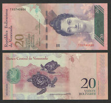 VENEZUELA 2011 20 BOLIVARES CURRENCY P-NEW UNCIRCULATED  SEA TURTLES