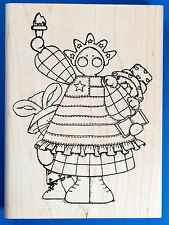 Lg Statue of Liberty Doll Rubber Stamp - Patriotic America Fourth of July