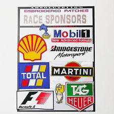 F1 Formula One RACE SPONSOR Patches - Iron-On Patch Mega Set #37 - FREE POST