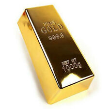 1kg Creative Gold Bar Bullion Door Stop Heavy Brick Paperweight