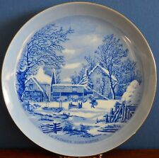 The Farmer's Home – Winter by Currier & Ives 21 cm Porcelain Collector Plate