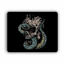 Snake Skull Computer Gaming Mouse Mat Pad Desktop Laptop Mouse