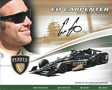 Ed Carpenterl SIGNED Fuzzy's CFH Racing  Verizon Indycar Promocard 2015