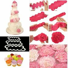 3PCS/Set  3D Carnation Flowers Decorating Tools Cookie Cutter Mould Cake Mold