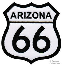 ROUTE 66 ARIZONA iron-on MOTORCYCLE BIKER PATCH new ROAD SIGN embroidered