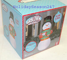 6Ft Christmas Airblown Inflatable Animated Lighted Shivering Trembling Snowman