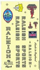Vintage bike logos stickers RALEIGH SPORTS  new printed logos decals england