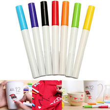 7 Colors Non Toxic Ceramic Mug Cup Graffiti Marker Drawing Pens Set Tools