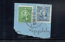 China 1939 5c & 20c SYS stamps used on piece with dated postmark as per scan
