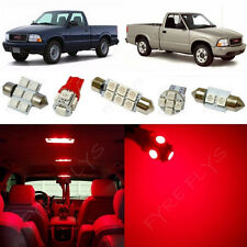 9x Red LED lights interior package kit for 1998-2003 GMC Sonoma CO1R