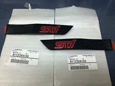 2015 2016 Genuine OEM Subaru WRX STI Black Fender Badge Emblem Pair Limited set