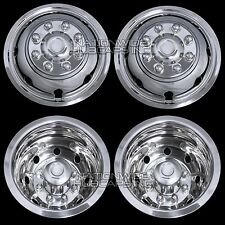 "4 FORD 16"" Dual Wheel Simulators Dually 8 Lug Rim Skins Liners Hub Cap Covers RV"