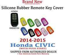 2014- 2015 Honda Civic EX EX-L Si Silicone Rubber with Smart Key Remote Cover 04
