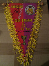 FANION XL WIMPEL PENNANT FINALE C2 1983 ABERDEEN VS REAL MADRID