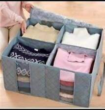 Bamboo Charcoal Folding Clothes Sweater Blanket Closet Organizer Storage
