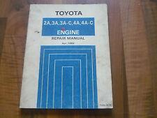 TOYOTA MOTOR TYP A 2A 3A 3A 4A ... Corolla Tercel General WERKSTATT HANDBUCH