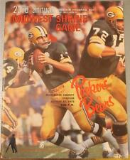 1972 Green Bay Packers Chicago Bears Program Shrine Game Butkus Nitschke