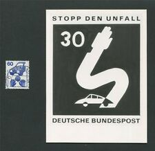 BUND FOTO-ESSAY 701 DAUERSERIE UNFALL 1971 PHOTO-ESSAY PROOF RARE!! e21