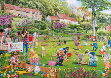 NEW! Gibsons The Easter Egg Hunt by Trevor Mitchell 500 piece nostalgic jigsaw