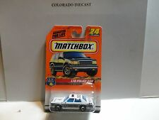 Matchbox #24 White LTD Police Car