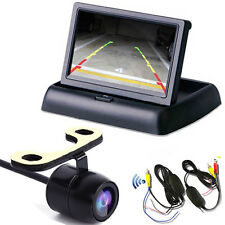 "4.3"" Foldable LCD TFT Monitor + Wireless Car Rear View Reversing Parking Camera"