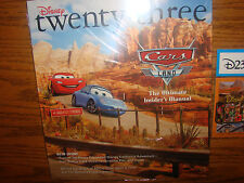 Disney D 23 Exclusive Magazine CARS LAND Fall 2012 With Bonus Post Cards *New*