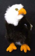 "NEW 9"" Standing BALD EAGLE Plush Stuffed Animal Toy Bird by Plushland Adorable!"