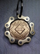Bikers AA NA Medallion Gold Custom BikeChain Coin Holder Keychain *FREE Shipping