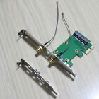 full + half size bracket adapter for wireless wifi wlan mini pci-e card to pci-e