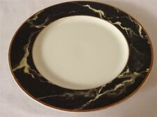 MIKASA BONE CHINA TRAVERTINE BLACK SALAD PLATE 7-1/2""