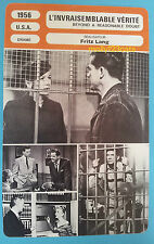 US Film Noir Beyond A Reasonable Doubt Fritz Lang  French Trade Card