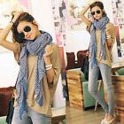 Womens Fashion Print Cotton Long Scarf Wrap Lady Large Shawl Silk Scarves Stoles
