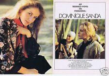 Coupure de presse Clipping 1978 Dominique Sanda  (6 pages)