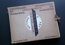 Portfolio Modernist Art Deco Shops Paris Architecture Interior Design Ch. Moreau