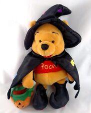 "Mint Disney WINNIE The POOH Witch HALLOWEEN 9"" Bean Bag Plush Stuffed 2000"