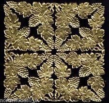 CORNERS GOLD GRAPE LEAVES GERMANY DRESDEN FOIL PHOTO HERITAGE SCRAP DECORATIVE