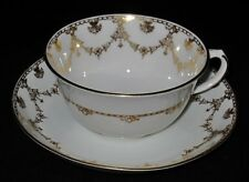 Royal Chelsea Cup & Saucer Set, Gold Tulip Swag, 6065