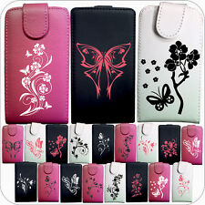 IDB CUSTODIA COVER CASE ECO PELLE FARFALLE FIORI VARIE FLOWER PER IPHONE 4 4S
