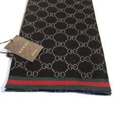 J-1550119 New Gucci Solange Black Red Scarf
