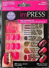 KISS imPRESS Nails Press-On Manicure Designer Kit - Hot Pink Great Spring Color!