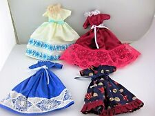 Barbie Doll Dresses 4/5 Pcs USA OKLA Made by 95 year old Lot 505 Dress Handmade